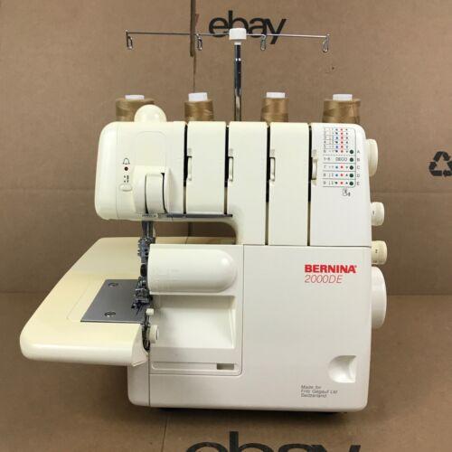 Bernina 2000DE Serger Overlock  Sewing Machine - No Foot Controller 8.D4