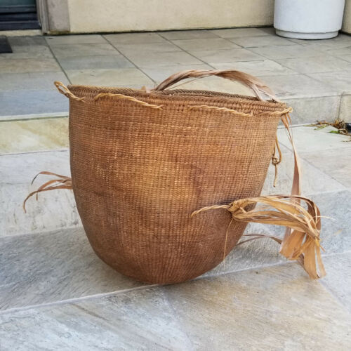 VINTAGE YANOMAMO YANOMAMI NATIVE AMAZON TRIBAL BURDEN BASKET