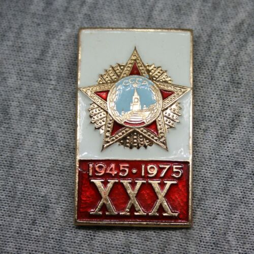 WWII 1945 May 9 Victory 30 years Order of Victory USSR Pin Badge Vintage Old pin