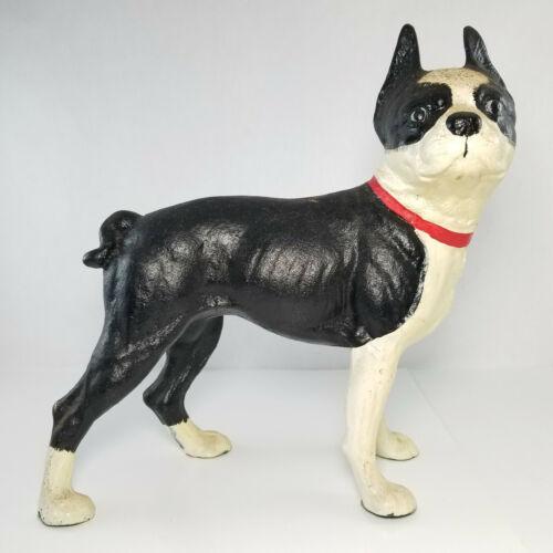 Vintage Cast Iron Boston Terrier Dog Door Stop