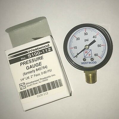 Westwood Pressure Gauge 14 Lm 2 Face 0-60 Psi Free Shipping