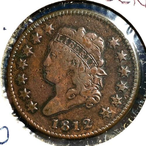1812 1C Classic Head Cent, Small Date, S-290, R-1 (56356)