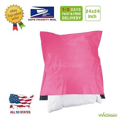 1-150 24x24 White Poly Mailers Large Envelopes Plastic Shipping Bags 2.5 Mil