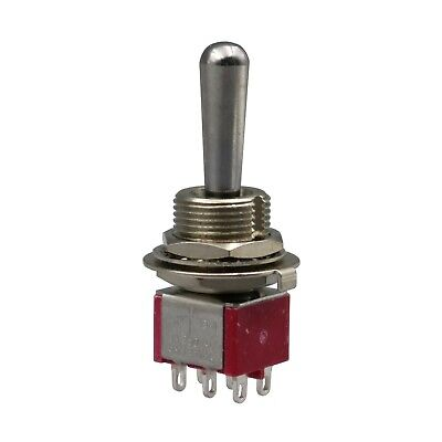 Sh T8012a-z1 On-off-on Momentary 6pin Dpdt Large Handle Mini Toggle Switch