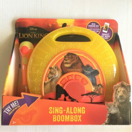 Disney The Lion King Sing-Along Boombox Toy Portable Karaoke System