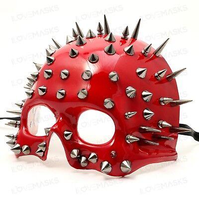 Steampunk Spike Skull Half Face Mask for Halloween Party Masquerade - Skull Face For Halloween