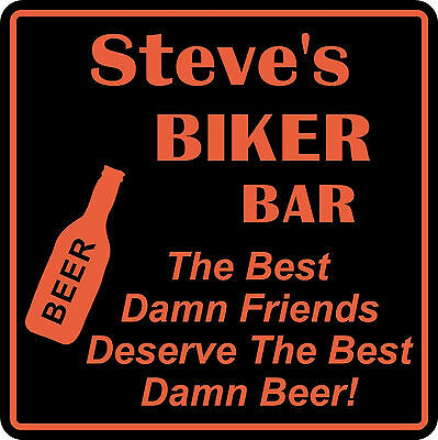 Personalized Custom Name Motorcycle Biker Bike Best Friends Bar Gift Sign  3