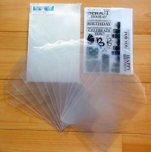 STAMP STORAGE POCKETS CPP CLEAR PLASTIC 100 MICRON PACK OF 50 - NEW