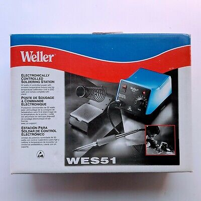 Brand New Weller Wes51 Analog Soldering Station 50 Watts W Stand And Pencil