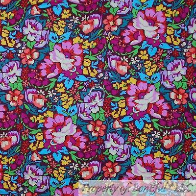 BonEful Fabric Cotton Quilt Antique Rainbow Flower Bright Color Mexican US SCRAP](Kids Rainbow Bright Costume)