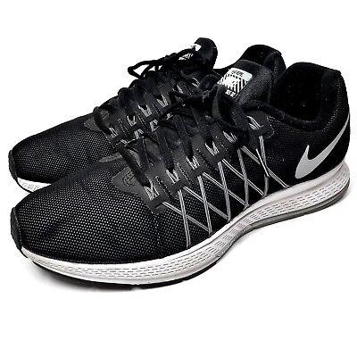 17b611433a289 Nike Air Zoom Pegasus 32 Mens Size 9 Black Silver White Sneakers 806576-001