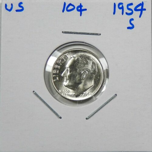 1954-S Silver Roosevelt Dime Choice to Gem Uncirculated