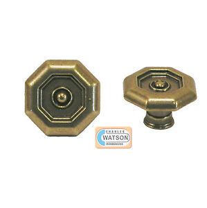 33mm laiton ancien octogone poign e bouton porte placard cuisine ebay. Black Bedroom Furniture Sets. Home Design Ideas