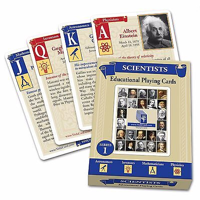 Educational Playing Card - Scientists Educational Blue Playing Cards Brand New