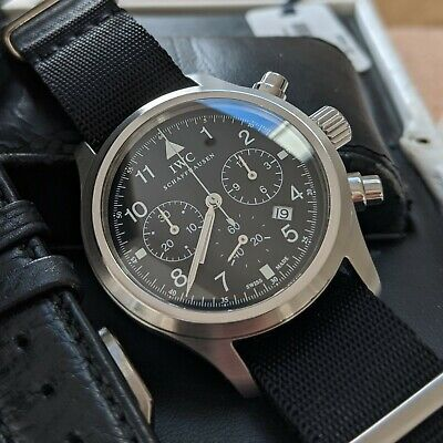 IWC Flieger Chronograph 3741 36mm with Warranty - Original Box, Papers, Strap