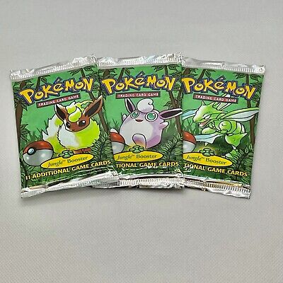 Unopened Wizards of The Coast Pokemon Jungle Booster Pack (WOC06063) set of 3