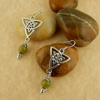 Ireland's Connemara Marble Celtic Trinity Knot earrings, Irish