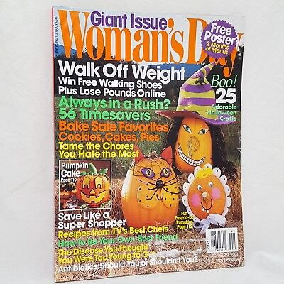 October Halloween Crafts (Womans Day Magazine October 2001 Halloween Crafts Walk Off Weight Timesavers)