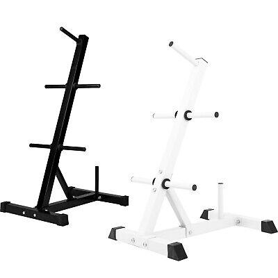 GORILLA SPORTS® Hantelscheibenständer mit 6 Aufnahmen 30/31 mm Weiß/Schwarz