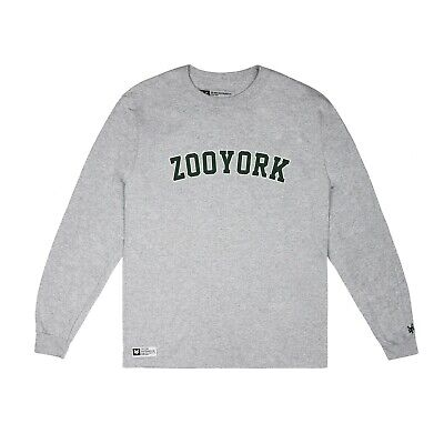 Zoo York - Core Arch - Official - Mens - LS T-shirt - Grey - Sizes S-XXL