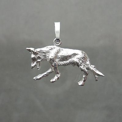 Schäferhund Anhänger Hund Malinois Haustier Deutscher Schäferhund Silber 925/-