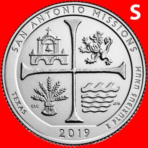 2019-S SAN ANTONIO MISSIONS (TEXAS) NATIONAL PARK UNCIRCULATED QUARTER