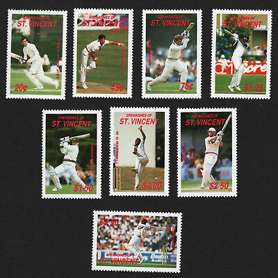 OPC 1988 St Vincent Grenadines Cricket Set Sc#606-613 MNH