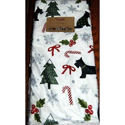 Christmas Scottie Dogs Sherpa Throw Blanket Minky Thro by Marlo Lorenz 50