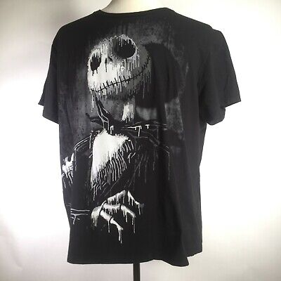 Disney Nightmare before Christmas Graphic Tee T-shirt Men's 2XL Jack Skeleton  ()