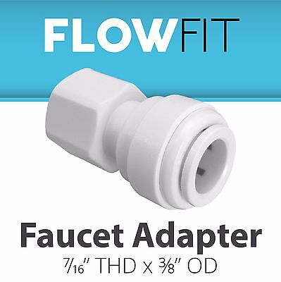 لاعمال السباكة جديد Express Water Faucet Adapter 3/8 x 7/16 Quick Connect QC Parts RO System Fitting