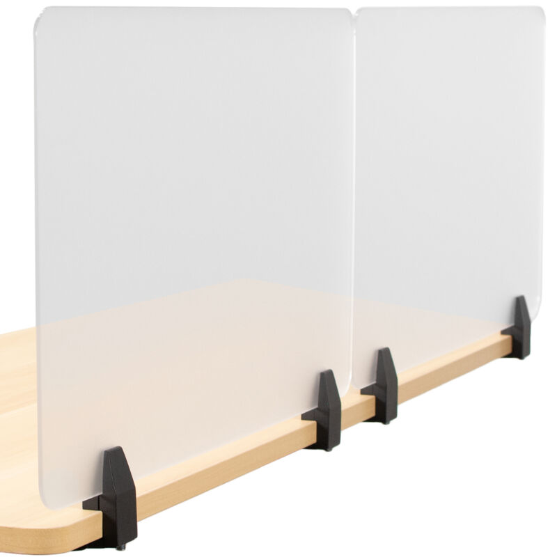 VIVO Plexiglass Clamp-on 24 x 18 inch Desktop Privacy Panels (Pack of 2)