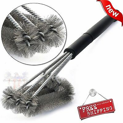 """BBQ Grill Brush 18"""" Stainless Steel Barbecue Cleaning Tool Woven Wire Best Price"""