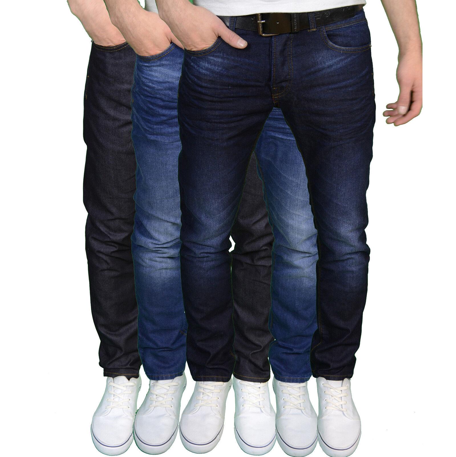 ea81d02ecdf Crosshatch pour hommes de marque coupe slim mode jean avec ...