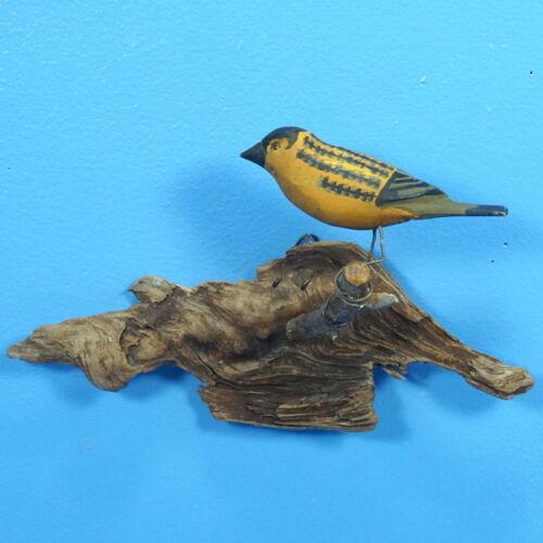 "5"" Antique Austria Black Forest Carved BIRD PLAQUE Hand Paint Glass Eye Viechtau"