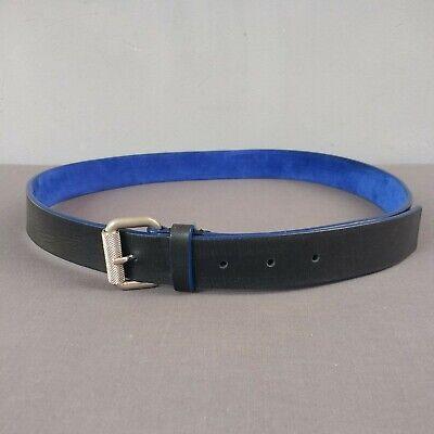 "Alexander McQueen MCQ Black Leather Belt Size Medium  33"" - 37 Waist"