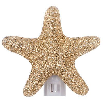 Starfish Rustic Shore Rose Gold Tone 4 x 4 Resin Stone Plug