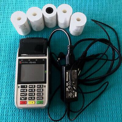 First Data Fd 410 Credit Card Machine Wireless Smart Chip Debit Reader Terminal