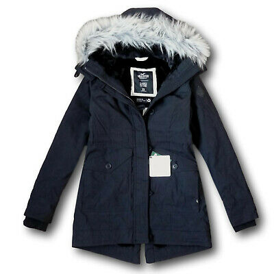 NWT Hollister by Abercrombie&Fitch Women's Cozy-Lined Parka Faux Fur Jacket Coat