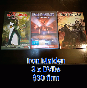 Iron Maiden 3 x dvds *reduced* Rockbank Melton Area Preview