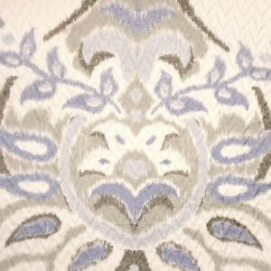 NOSTALGIA World Traveler Full Queen QUILT NWT Nordic Blue Ivory COTTON Hand Made