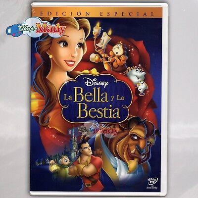 Disney Bella (Disney La Bella Y La Bestia Edición Especial Dvd Reg. 1 Y 4 Español Latino)