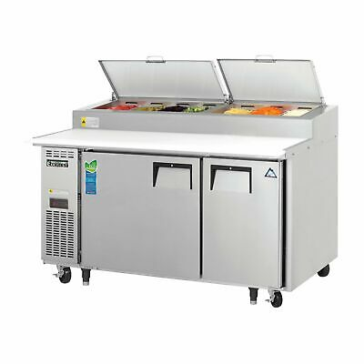 Everest Eppsr2 59 Pizza Prep Table Refrigerated Counter