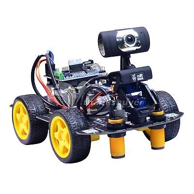 Programmable Robot Car Kit Wwifi 2-dof Ptz Tracking Line Obstacle Avoidance Diy