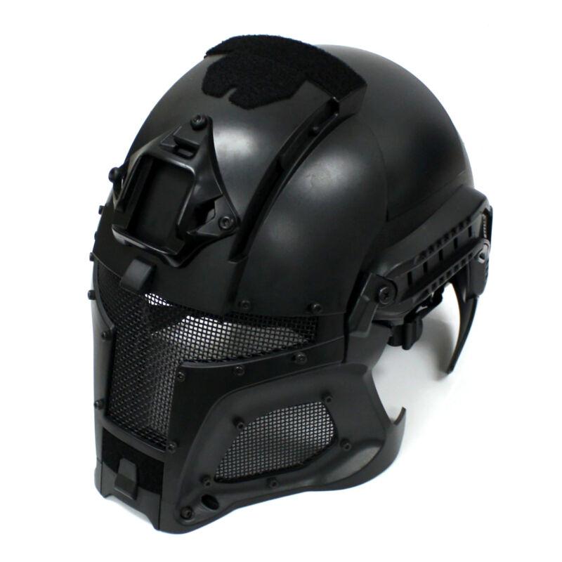 Full Face Airsoft Helmet Black Interstellar Space Battle Trooper Tactical Mask