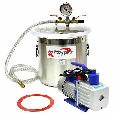 3 Gallon Vacuum Chamber W 2.5 Cfm Single Stage Pump To Degassing Silicone Kit