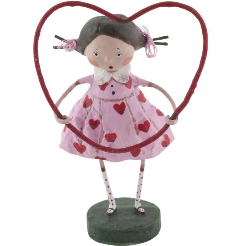 Lori Mitchell Framed with Love Valentines Day Girl Figurine Folk Art Figure
