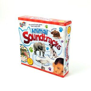 Animal Soundtracks Game Match Animal Sounds to Photos of Animals Galt Toys