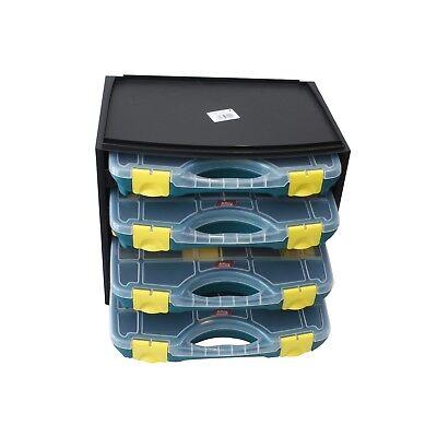 Sortimentskasten inkl. 4 Sortierboxen (auch einzeln verfügbar) z.B. f. Schrauben