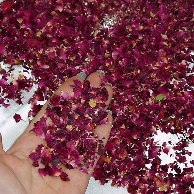 Dried Real Rose Petals Dark Red 15g Bio Degradable Natural Scented Confetti