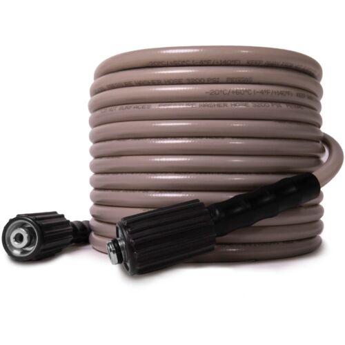 WASPPER 3200 PSI 25FT x 1/4 Inch Kink Resistant Pressure Washer Hose, M22 14MM